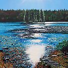 'Light Shines on Bass Lake' by Jerry Kirk
