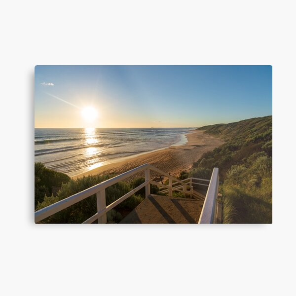 Sunset over Point Lonsdale Beach Metal Print