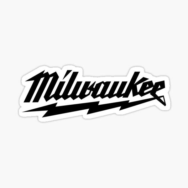Black Milwaukee logo Sticker