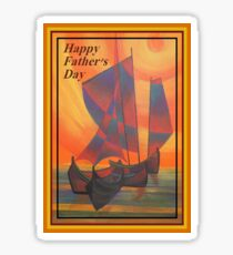 Happy Fathers Day (Red Sails In The Sunset) Greeting Sticker