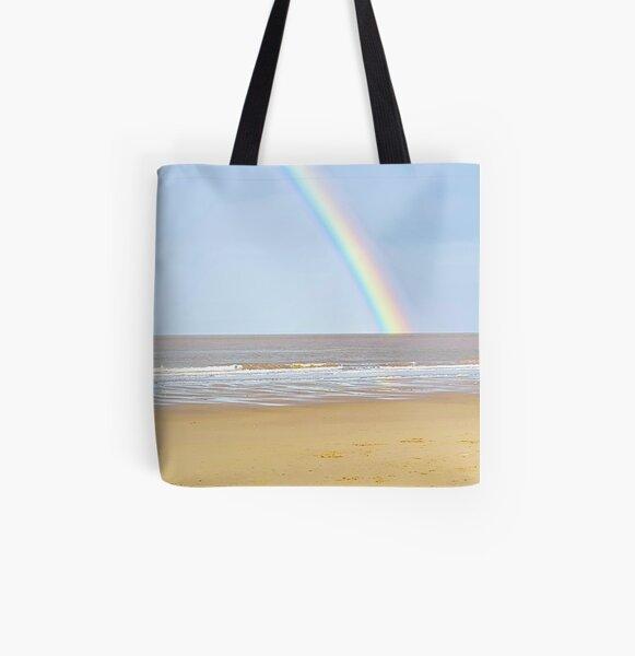 Beach Rainbow Scenery All Over Print Tote Bag