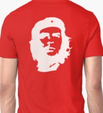 Che, Guevara, Rebel, Cuba, Peoples Revolution, Freedom, WHITE on RED Unisex T-Shirt