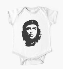 Che, Guevara, Rebel, Revolution, Marxist, Revolutionary, Cuba, Power to the people! Black on Red One Piece - Short Sleeve