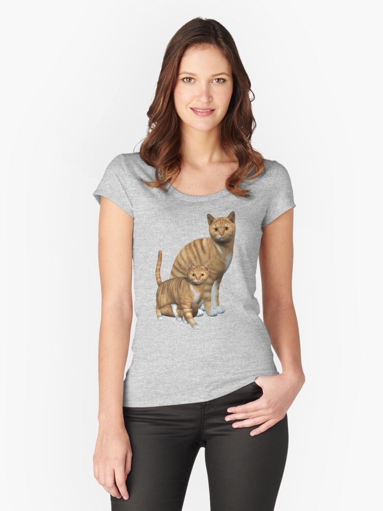 Ginger Tabbies  Women's Fitted Scoop T-Shirt Front