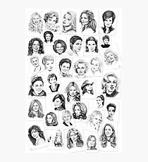 pencil portraits by commission Photographic Print