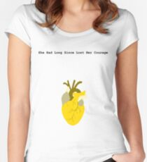 She Had Long Since Lost Her Courage Women's Fitted Scoop T-Shirt