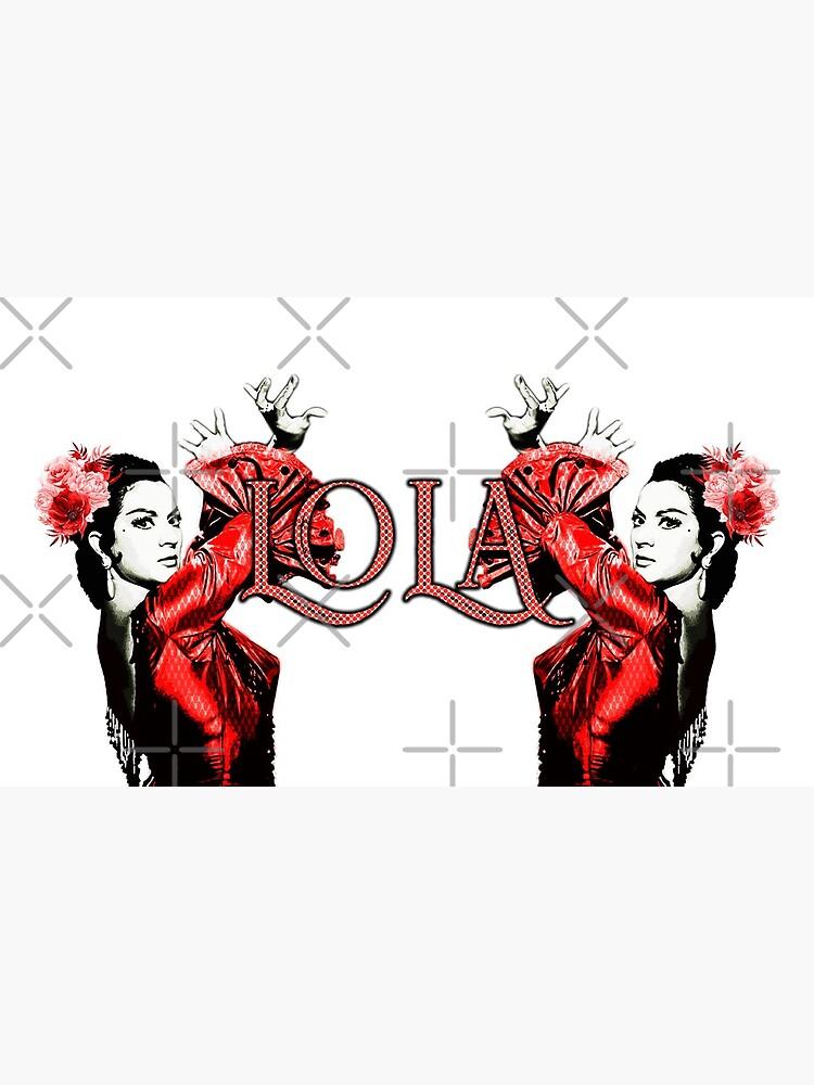 Lola Flores vestido rojo  de danimota