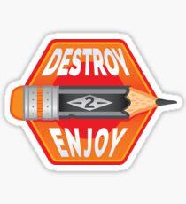Destroy Pencils Version II Sticker
