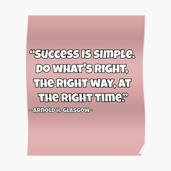 Success Is Simple Shirt  Poster