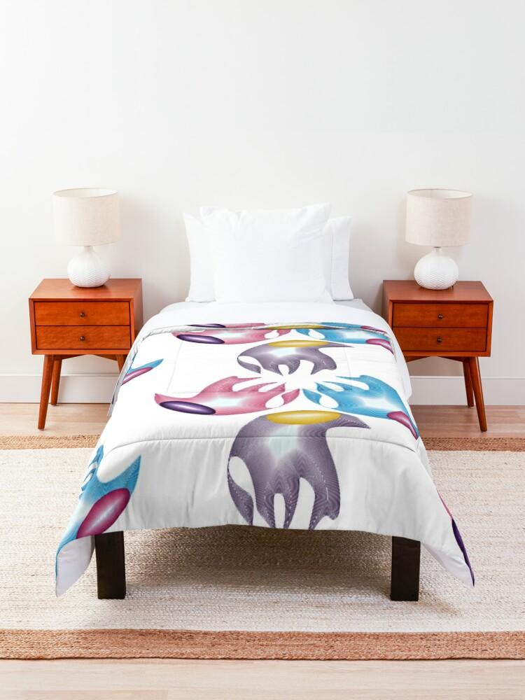 Alternate view of Marine creatures Comforter