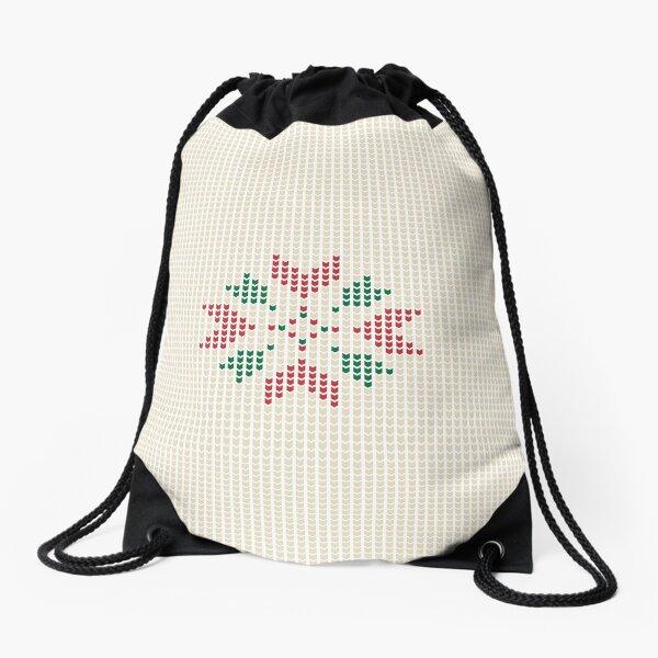 Christmas winter pattern Drawstring Bag