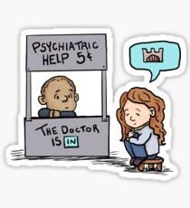 the doctor is in Sticker