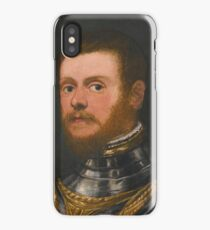 Circle of Jacopo Robusti, called Jacopo Tintoretto PORTRAIT OF A BEARDED MAN, BUST LENGTH, IN ARMOUR iPhone Case/Skin