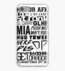 League of Legends Words iPhone Case/Skin