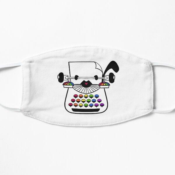 Rainbow Typewriter Flat Mask