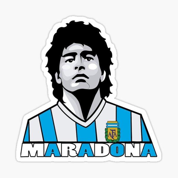 Diego Maradona la leyenda Pegatina