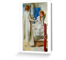 Dante Gabriel Rossetti - The Annunciation, Tate Britain Greeting Card