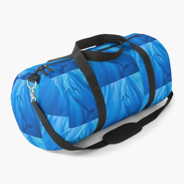 Dolphin in blue Duffle Bag