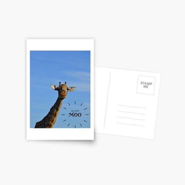 I'm a goat. Moo! Postcard