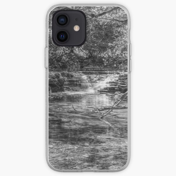 Waterfall Creek At Henning Conservation Grayscale iPhone Soft Case
