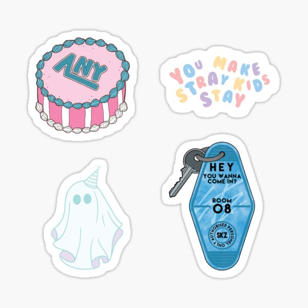 STRAY KIDS In Life Cute Pastel Themed Pack [BUY MEDIUM OR LARGER FOR STICKER PACK] Sticker