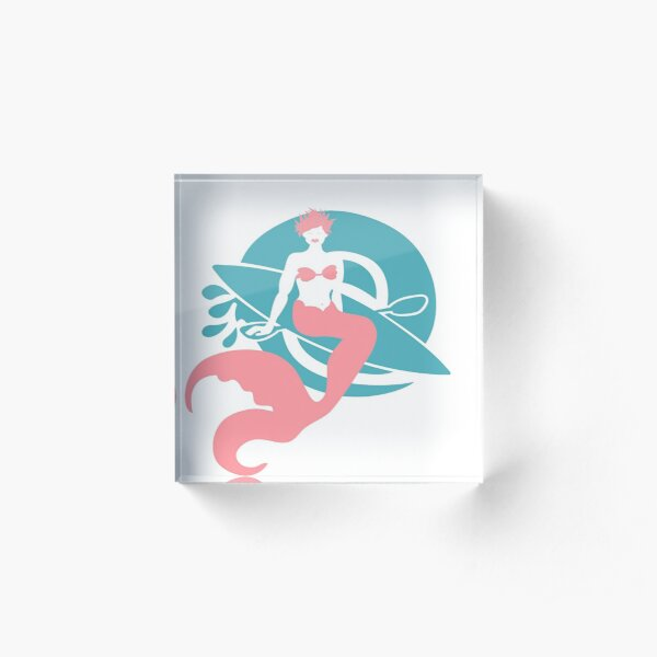 Mermaid Logo  Acrylic Block