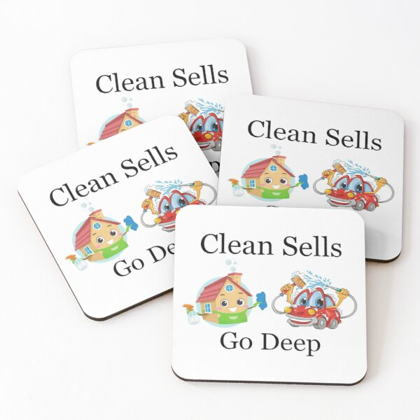 Deep Cleaned Houses And Cars Sell Faster Coasters (Set of 4)