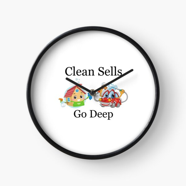 Deep Cleaned Houses And Cars Sell Faster Clock