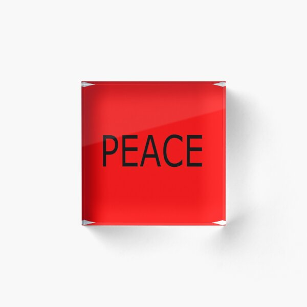 """LOA""law of attraction-peace Acrylic Block"