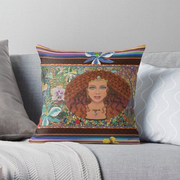 Leona - A tropical fantasy Throw Pillow