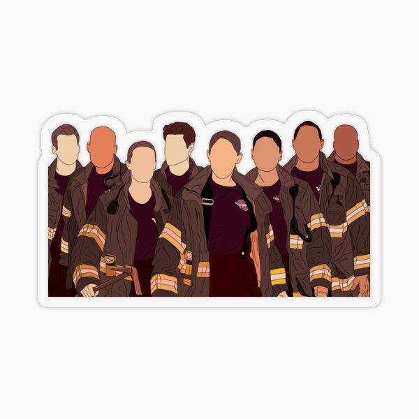 Station 19 cast  Transparent Sticker