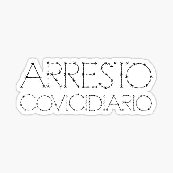 Covidiary Arrest 2 Sticker