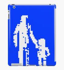 1 bit pixel pedestrians (white) iPad Case/Skin