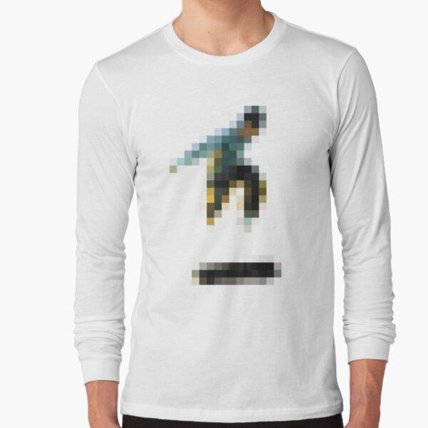 8 bit pixel skate flip (color) Long Sleeve T-Shirt