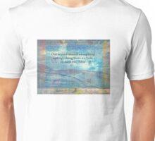 Rumi Friendship Peace Quote landscape iznik tiles  Unisex T-Shirt