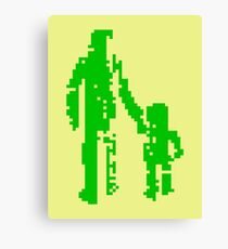 1 bit pixel pedestrians (green) Canvas Print