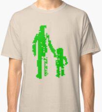 1 bit pixel pedestrians (green) Classic T-Shirt