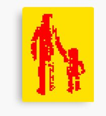 1 bit pixel pedestrians (red) Canvas Print