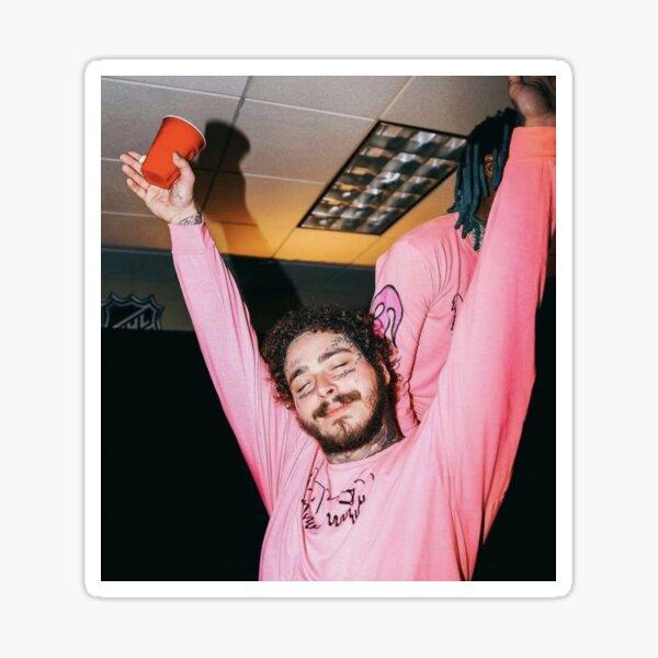 post taza de mano rosa Pegatina