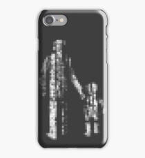 8 bit pixel pedestrians (light) iPhone Case/Skin