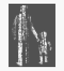 8 bit pixel pedestrians (light) Photographic Print
