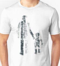 8 bit pixel pedestrians (dark) Unisex T-Shirt