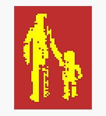 1 bit pixel pedestrians (yellow) Photographic Print