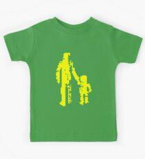 1 bit pixel pedestrians (yellow) Kids Tee