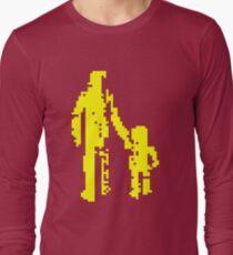 1 bit pixel pedestrians (yellow) Long Sleeve T-Shirt