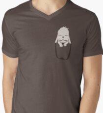 Akamaru in your pocket! Men's V-Neck T-Shirt