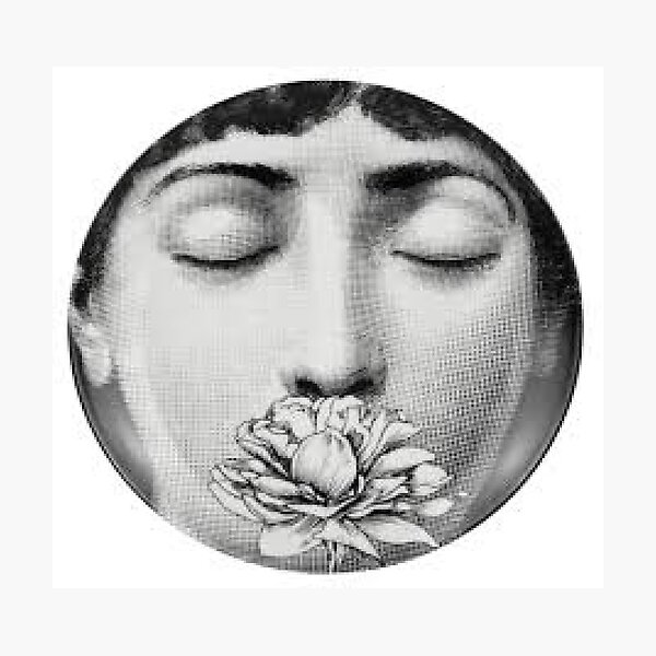 The Fornasetti Rose Photographic Print