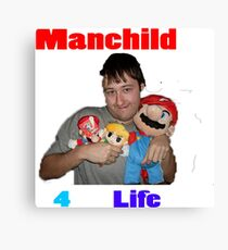 Manchild 4 Life Canvas Print