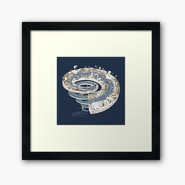 Geologic Period Timeline Framed Art Print