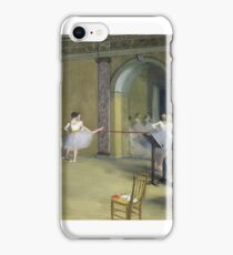 EDGAR DEGAS (- ) - THE DANCE FOYER AT THE OPERA ON THE RUE LE PELETIER,  iPhone Case/Skin